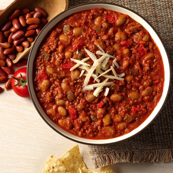 Blount Beef Chili is a multi-use, must-have for any football party.
