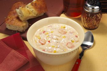 Blount shrimp & roasted corn chowder