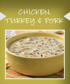 Chicken, Turkey & Pork